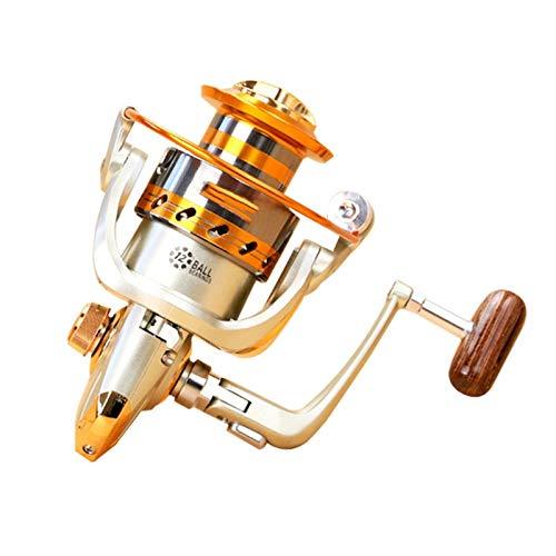 QPLKL Carretes EF1000-7000 12BB 5.2: 1 Rueda de Pesca de Hilado de Metal para Agua Fresca/Salada Pesca de mar Pesca de Hilado Carpa Pesca (Bearing Quantity : 12, Color : Style 2)