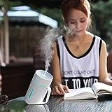 Zhouzl Hogar & Jardín Forma MLS2 Taza de Agua Inteligente Mute LED luz de la Noche atomizado humidificador de Aire de la máquina de humidificación Hogar & Jardín (Color : Blanco)