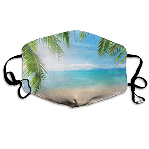 Face Nose Mouth Cover Mask Scarf Windproof Dust Wind Headwear Headwrap Blue Sky Hawaii Beach