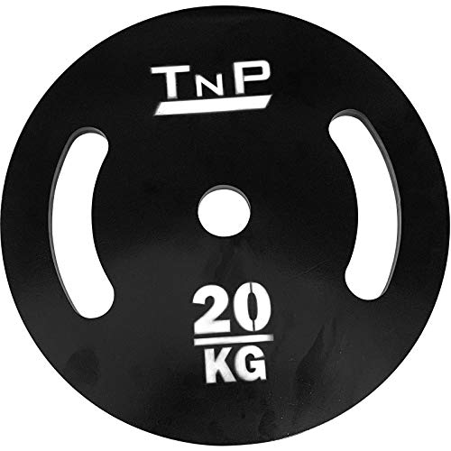 """TnP Distribution Solid Steel 2"""" Olympic Weight Plates Disc 20KG Single Hammertone for Dumbbell Barbell Bar Weights Set"""