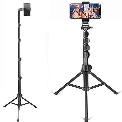 ZOMEI Handy Halterung Stativ Smartphone Tablette Licht Kamera Ständer Faltbar Verstellbar Höhe 50-163cm kompatibel für Kamera und Smartphone