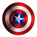 SPOTOR 47CM Escudo Capitan America Metal 1: 1 Apoyos de Película Niños Hierro Forjado Juega como Accesorios SuperhéRoe CapitáN AméRica Shield Vengadores Capitán América Disfraz Shield