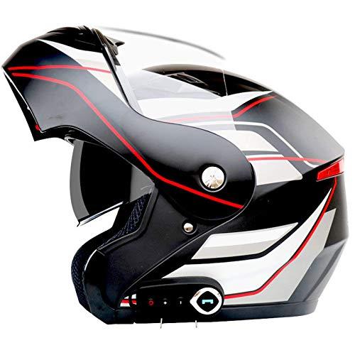 ZHEN Casco de Motocicleta de Cara Completa con Bluetooth, Modular, abatible hacia adelante, Casco de Motocicleta, Casco de Choque para Motocicleta, Aprobado por ECE/ECE, Casco de Motocicleta in