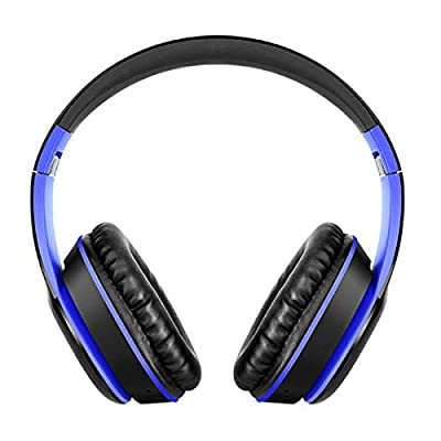 Josopa Wireless Headset Stereo Surround Foldable Headphone, Noise Cancelling Over Ear Headphones with Mic, Bass Surround, Soft Memory Earmuffs, 3.5mm Audio Plug from Josopa