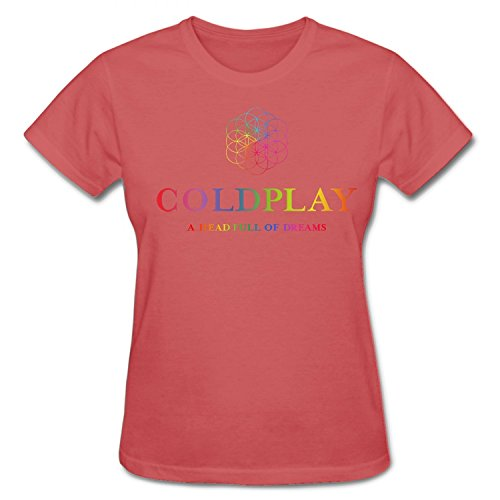 Donna's A Head Full of Dreams Coldplay 2016 Tour T-Shirt Small