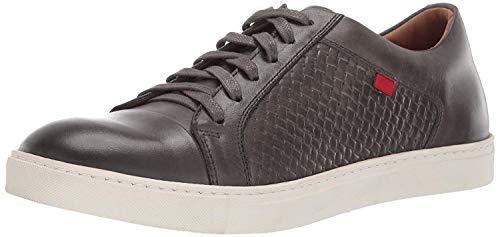 MARC JOSEPH NEW YORK Herren Mens Geuine Leather Waverly Street Criss Cross Sneaker Turnschuh, Grau Nappa/Korb, 41 EU
