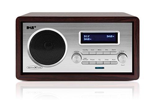 Reflexion HRA1255 Digital-Radio mit DAB+ und UKW Tuner im Retro-Design (Senderspeicher, Weckfunktion, AUX-Eingang, Kopfhörer-Anschluss), holz