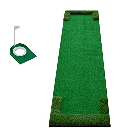 L&T Indoor Golf Putting Matte Mini,persönlich Golfmatte Putting Übungs,Putting Green Für Zuhause Hinterhof Büro Outdoor Training A 48x300cm(19x118inch)