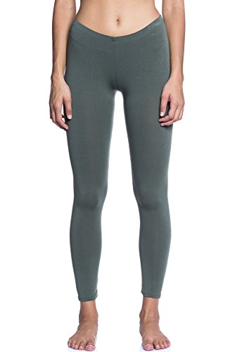 Abbino Dominic Basic Legging Damen - Made in Italy - 12 Farben - Übergang Frühling Sommer Herbst Leggin Damenleggin Stretch Unifarben Sale...
