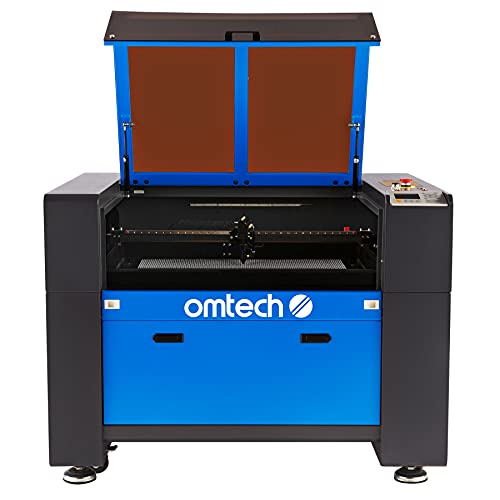 OMTech 60W CO2 Laser Engraver and Cutter for Wood Leather Rubber and More with 20x28 inch Electric Lift Workbed, Ruida Control Panel, Digital Laser Power Supply for Home DIY Office(ZF2028-60)