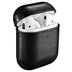 ★ [GENUINE LEATHER]: Icarer AirPods Leather Case is made of premium genuine leather. The hand feeling of the genuine leather is top-grade. Each piece of leather has its own veins and pores, so the texture of each product you receive is unique. ★ [FUL...