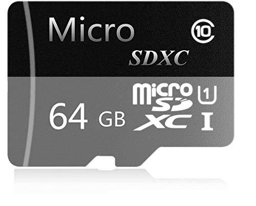 Genericce - Tarjeta de memoria Micro SD SDXC (32 GB, 64 GB, 128 GB, 256 GB, 400 GB, 400 GB, clase 10, con adaptador micro SD, diseñado para Android Smart) 64 GB