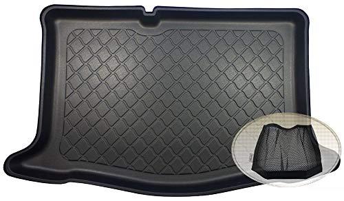 ZentimeX Z3289037 Gummierte Kofferraumwanne fahrzeugspezifisch + Klett-Organizer (Laderaumwanne, Kofferraummatte)