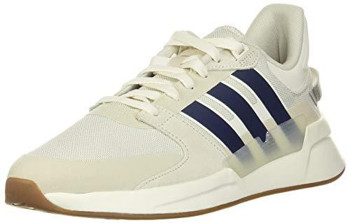 adidas RUN90S, Scarpe da Ginnastica Uomo, Nuvola Bianco Blu Scuro Bianco Raw, 42 2/3 EU