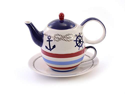 Tea for one Set Silje Keramik, 4-teilig Kanne: 0,4 l, Tasse: 0,2 l