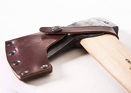 "Gransfors Bruks Small Forest Axe 19 Inch, 420 4 Length with handle: 19 inch, Comes original Gransfors ""Axe-book"" Weight: 2 lbs Sheath in vegetable tanned leather"