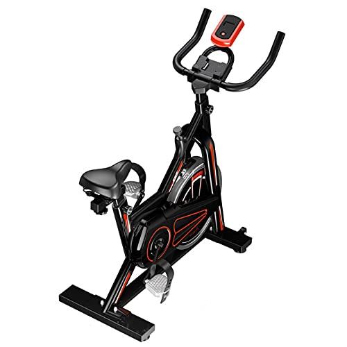 Spinning Bike Bicicleta Estática para Interior, Bicicleta De Spinning del Ejercicio Aeróbico del Gimnasio En Casa, con Soporte para Teléfono Móvil Y Monitor Digital