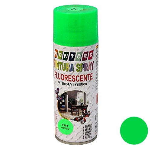 Montoro - Bote de Pintura en Spray Verde Fluorescente F204 400 ml