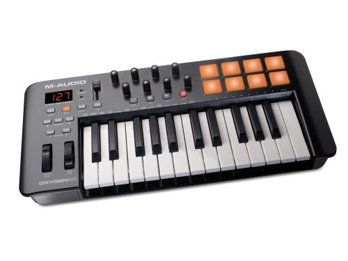 M-Audio Oxygen 25 IV | USB Keyboard and Pad MIDI Controller Featuring Pad/Velocity - Sensitive Keys