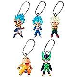 Capsule Toy Dragon Ball Super UDM The Best 32 Keychain Swing Collection - SSGSS Gogeta, SSJ Vegeta, SSJ Bardock, Krillin, Cell, Set B