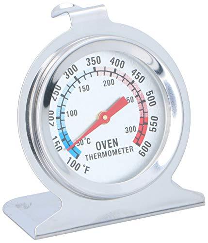 Invero Universal Edelstahl Ofenthermometer Überwachung Temperaturanzeige - Hängen oder Stellen im Ofen - Farbiges Zifferblatt