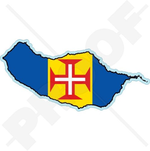 MADEIRA ISLAND Kaart-vlag Funchal Portugal, MADEIRAN Portugees 4.7