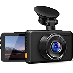 1080P FULL HD DASH CAM - Simultaneous recording with Super High Resolution 1080P FHD Lens supporting 4032x3024 photos, and 3 inch large LCD Screen deliver clearer videos&images and replay the key moment even when high speed driving. 170° SUPER WIDE A...