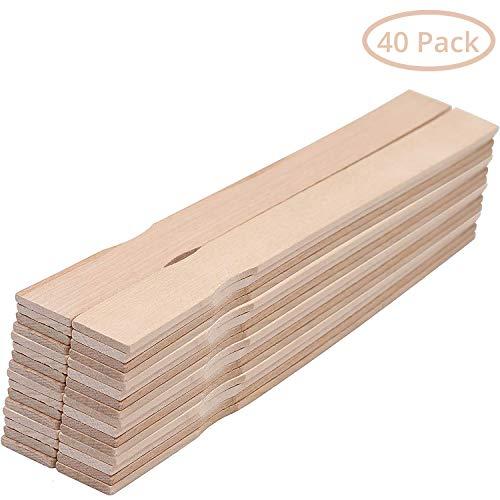 Holzspatel Rührstäbchen (40er-Pack) - 30 cm Rührhölzer zum Rühren von Farbe, Lack - Farbrührspatel- Bastelholz - zum Basteln, Garten, Deko, Lesezeichen, Kunst, Schule und Aktivitäten für Kinder