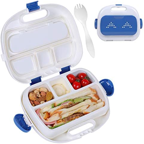 HOMESPON Insulated Lunch Box Kids Bento Box Lunch Container with Fork for Women Children to product image