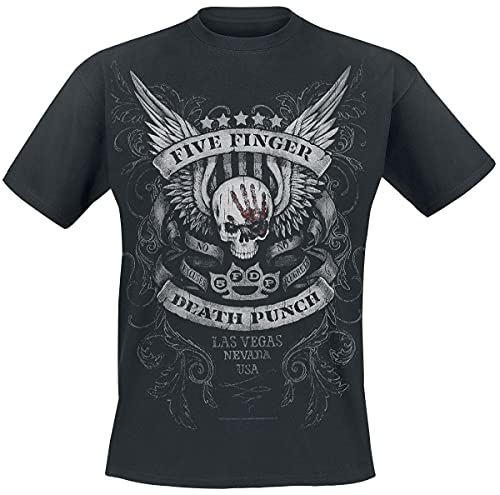 Five Finger Death Punch No Regrets Männer T-Shirt schwarz L 100% Baumwolle Band-Merch, Bands