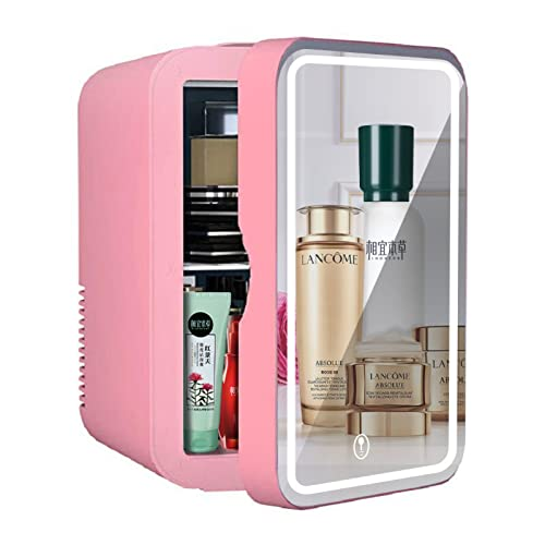 Mxsnow Mini Refrigerador para El Cuidado De La Piel Refrigerador Pequeño para Dormitorio Y Viajes Refrigerador Cosmético Snjiaheim Mini Refrigerador-8L-pink