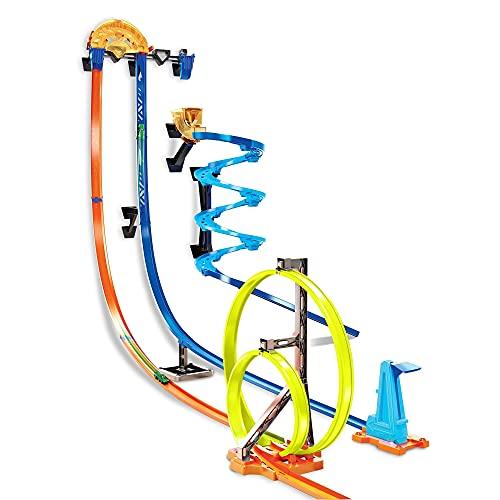Hot Wheels GGH70 - Track Builder Senkrechtstarter Stunt-Set, Spielzeug ab 6 Jahren [Exklusiv bei Amazon]