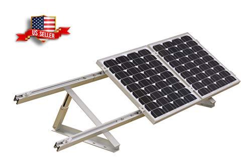 Verstellbare Solarpanel-Halterung, klappbar, neigbar, für Boote, Wohnmobil, Dach aus Gitter (61 cm Länge)
