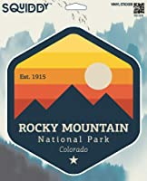 """Squiddy Rocky Mountain National Park Colorado ビニールステッカー デカール 5"""" Q28-5in"""
