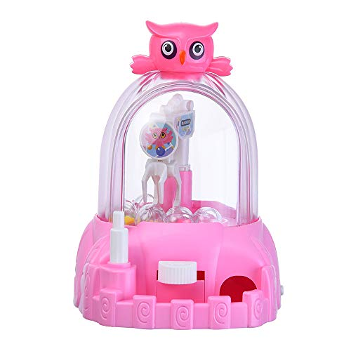 KONFA Mini Candy Claw Machine Toys for Kids Boys Girls Indoor&Outdoor Playing Fun Arcade Game with Music Sounds Creative Gifts Educative Toy (Pink, 6.3x5.2x7.3 inches)