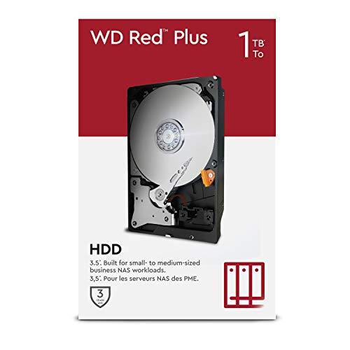 "WD Red Plus 1TB NAS 3.5"" Interne Festplatte – 5.400 RPM Class, SATA 6Gbit/s, CMR, 64MB Cache"