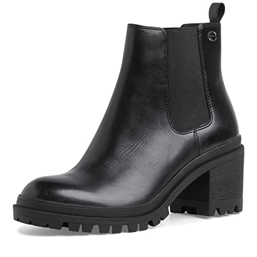 Tamaris Damen Stiefeletten, Frauen Chelsea Boots,lose Einlage,Boots,Stiefel,Bootee,Booties,halbstiefel,Kurzstiefel,Black,38 EU / 5 UK