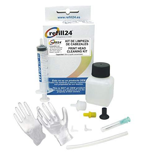 refill24 Düsenreiniger, Druckkopfreiniger zum reinigen aller Druckköpfe 50 ml