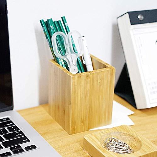 Escritorio ordenado Organizadores, Titular de la pluma Escritorio de madera de bambú Soporte de lápiz Soporte MULTI PROPÓSITO Use taza de lápiz, Suministros de oficina de escritorio Leyue