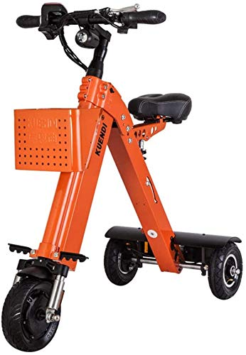 Large Portable Chainless Folding Electric Car Outdoors Smart Mini Walker Tricycle Faul Artifact Electric Car Scooter Mountain Bike,Orange
