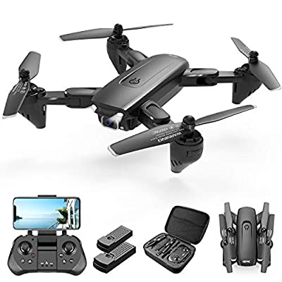 4DRC Drone with 1080P HD Camera, 2 Batteries and Carrying Case, FPV Live Video Camera,RC Quadcopter for Adults kids,with Auto Hover,3D Flip,Headless Mode,One Key Start,Waypoints Functions