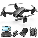 4DRC F6 Foldable Drone with Camera for Adults, 1080P HD FPV Live Video Camera drone,Rc quadcopter for Kids Beginners , Auto Hover,3D Flip,Headless Mode,Gravity Control,with 2 Batteries 30 mins