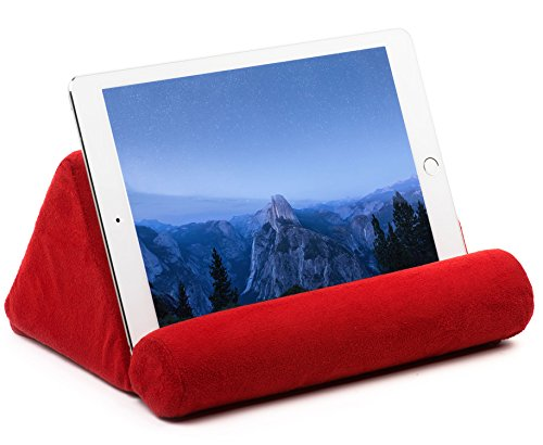 iPad Tablet Pillow Holder for Lap - Pillow for Tablet or iPad - Universal Phone and Tablet Holder for Bed Can Be Used also on Floor, Desk, Chair, Couch - Red Color