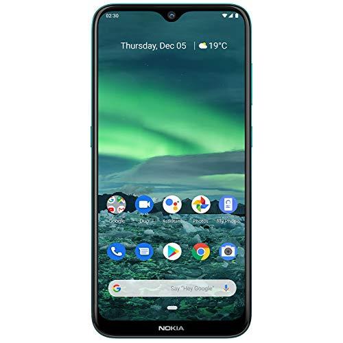 Nokia 2.3 Dual SIM Smartphone 6,21 Zoll (15,7 cm), 32GB Interner Speicher, 2 GB LPDDR 4 RAM, 13 MP Hauptkamera, 5 MP Frontkamera, Android 9, Zyangrün