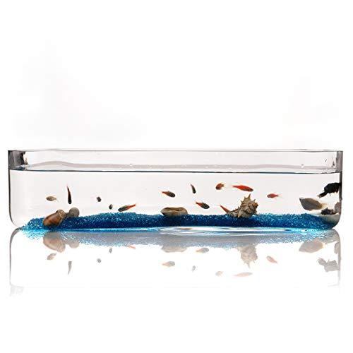 Xuejuanshop—Peceras Personalidad Creativa Cristal Rectangular Fish Tank Acuario Sala de Estar Oficina Escritorio Acuario Decoración (tamaño : S)