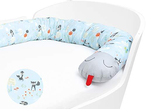 Minetom 210CM Bettumrandung Bettschlange Babybett Nestchen Kantenschut Bettumrandung Nest Kopfschutz Dekoration f/ür Krippe Kinderbett,Durchmesser:13CM