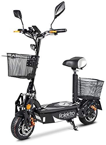Rolektro E-Joy 20 Elektroroller mit Lithium Akku - 20 km/h E-Roller 500W Radnabenmotor 45km Reichweite EU-Zulassung