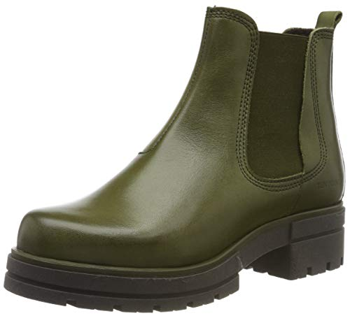TEN POINTS Damen Alice Chelsea Boots, Grün (Green 501), 38 EU