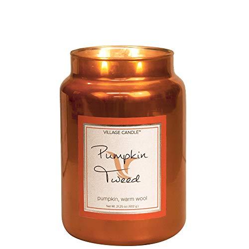 Village Candle - Kerze, Duftkerze - Pumpkin Tweed - Metallic Collection - 626 g