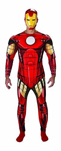 Rubies Disfraz Oficial de Iron Man de Marvel para Adulto, Talla XL